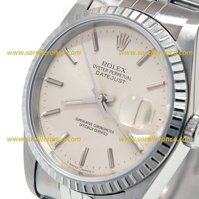 Sorelle ronco rolex datejust 16220 for Sorelle ronco rolex